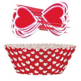 Muffinsformar med Hjärtan Kit
