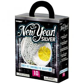 Happy New Year Partykit Silver