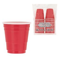 Shotglas Plast Röda