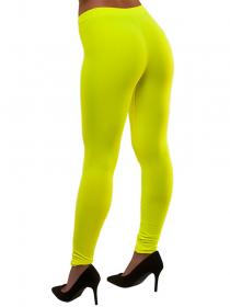 80-tals Leggings Neongul