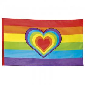 Prideflagga med Hjärta