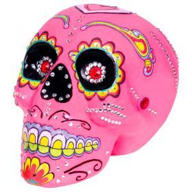 Rosa Sugar Skull Dekoration Deluxe