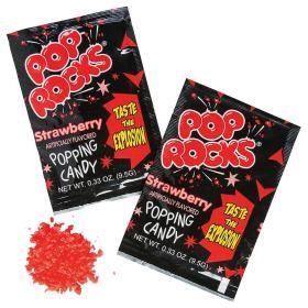 Pop Rocks Poppande Godis Jordgubb