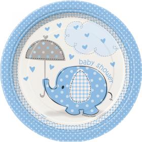 Baby Shower Boy Assietter Umbrellaphant