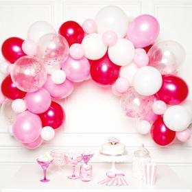 Ballonggirlang Kit Vit och Rosa