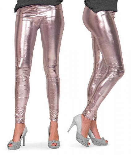 Leggings Metallic Silver