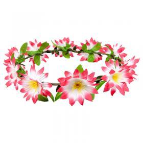 Blomkrans med Rosa Blommor