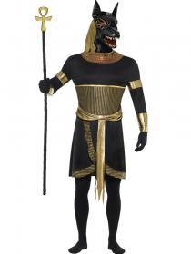 Egyptiska Guden Anubis Schakal Maskeraddräkt
