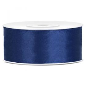 Satinband Navy Blå 25 mm
