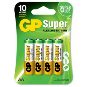 AA-Batterier 4-pack GP Super Alkaline