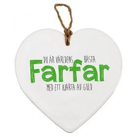 Keramikhjärta Farfar