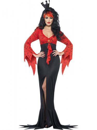 Drottning Vampyrklänning Maskeraddräkt - Partyhallen.se 557ae4017b656