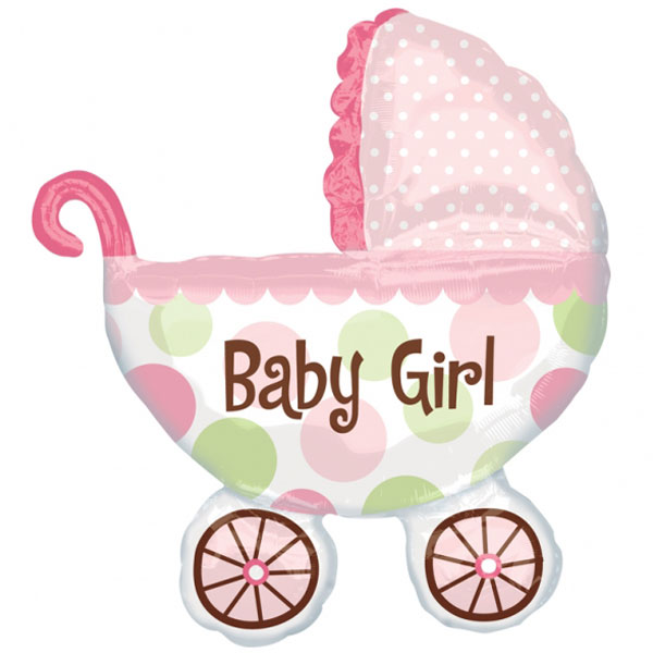 Baby Girl Folieballong XL