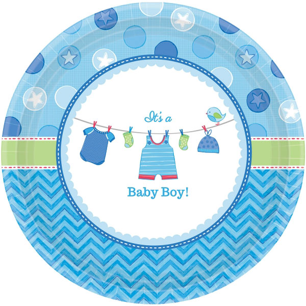 Baby Shower It's a Baby Boy Assietter