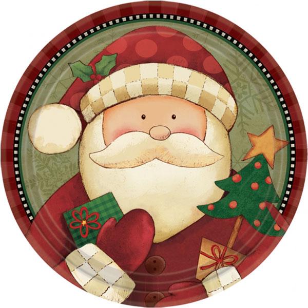 Cozy Santa Papptallrikar