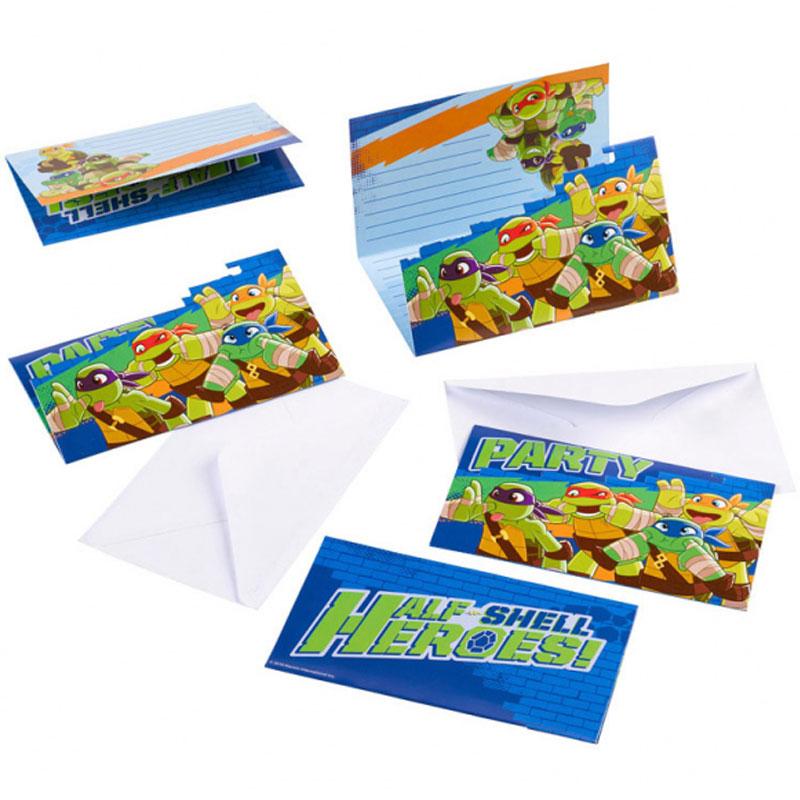 Ninja Turtles Heroes Inbjudningskort