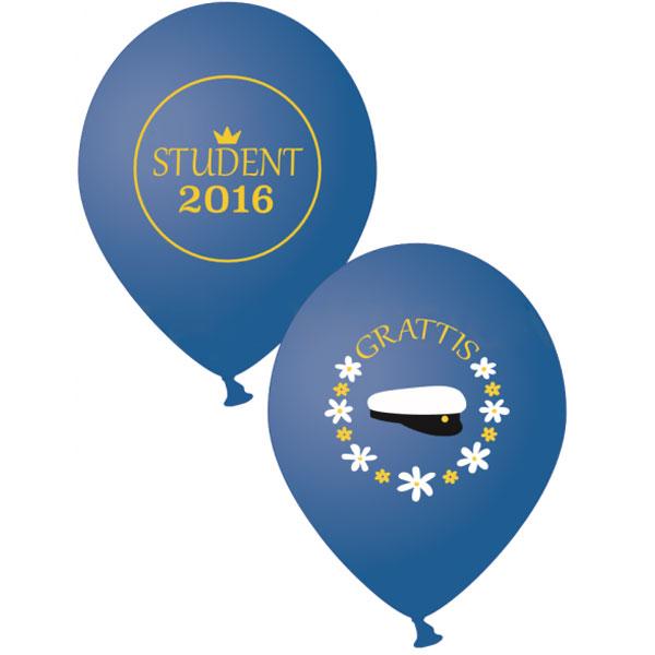 Studentballonger 2016 Blå