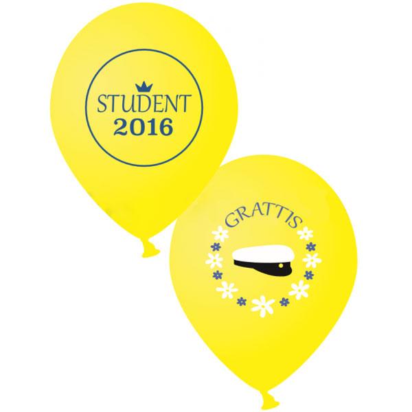 Studentballonger 2016 Gul