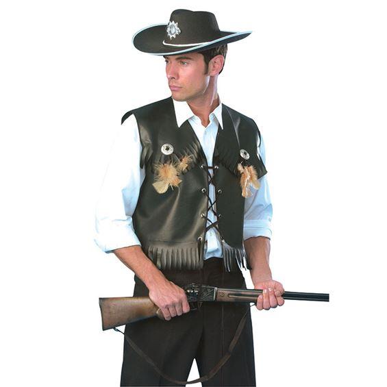 Cowboyväst Svart (Standard)