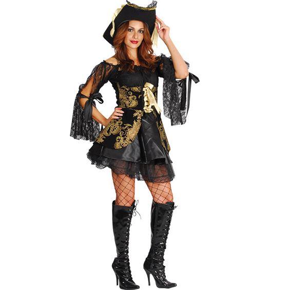 Glamorös Piratklänning Maskeraddräkt