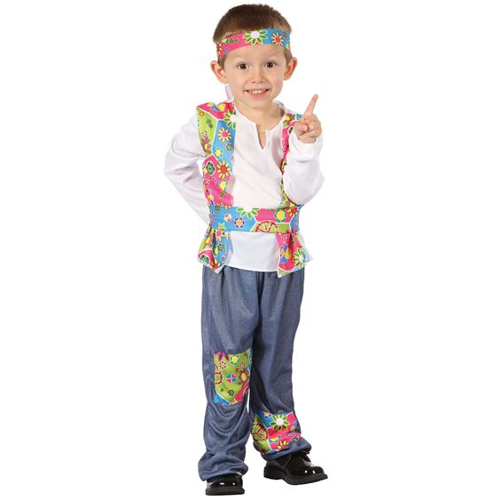 Hippie Pojke Barn Maskeraddräkt