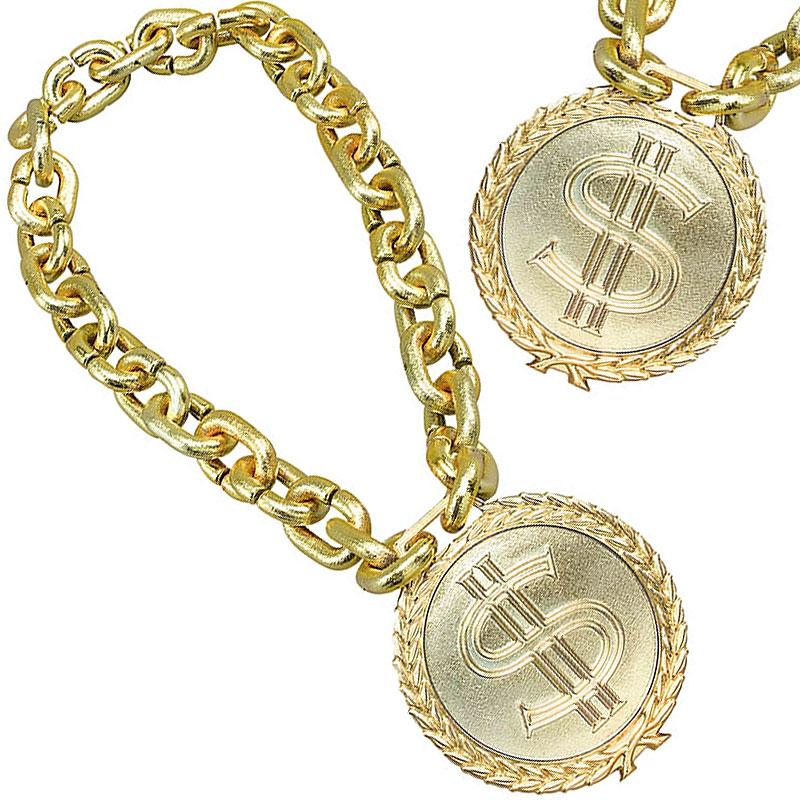 Jumbo Dollar Halsband Guld