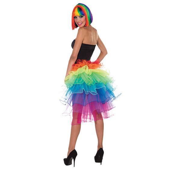 Kjol med Regnbågsfärger