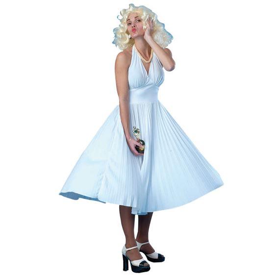 Marilyn Monroe Klänning Maskeraddräkt (Small/Medium)