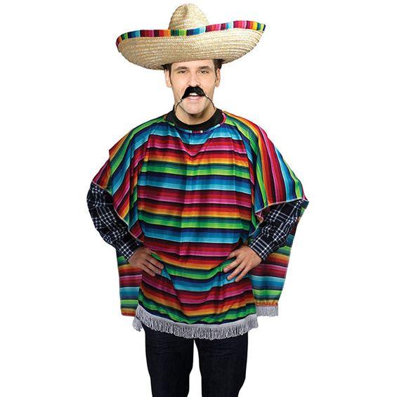 Mexikansk Poncho Budget Maskeraddräkt
