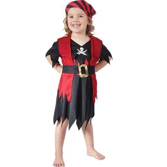 Pirattjej Barn Maskeraddräkt