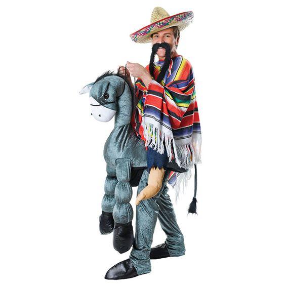 Ridande Mexikan med Åsna Maskeraddräkt