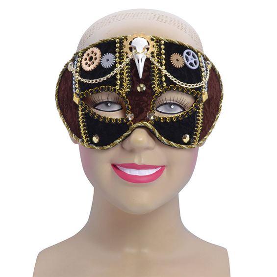 Steampunk Ögonmask med Dekor