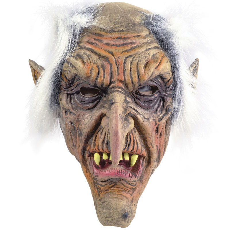Troll Mask med Hår