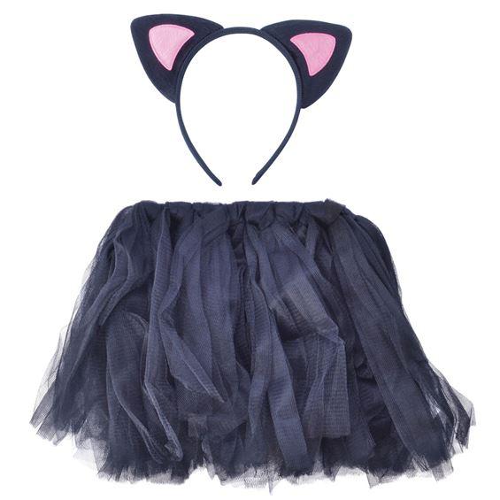 Tyllkjol Katt med Pannband