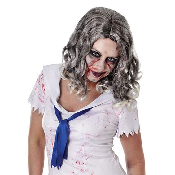Vågig Zombie Peruk