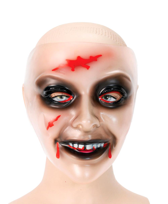 Zombiemask Transparent Kvinna