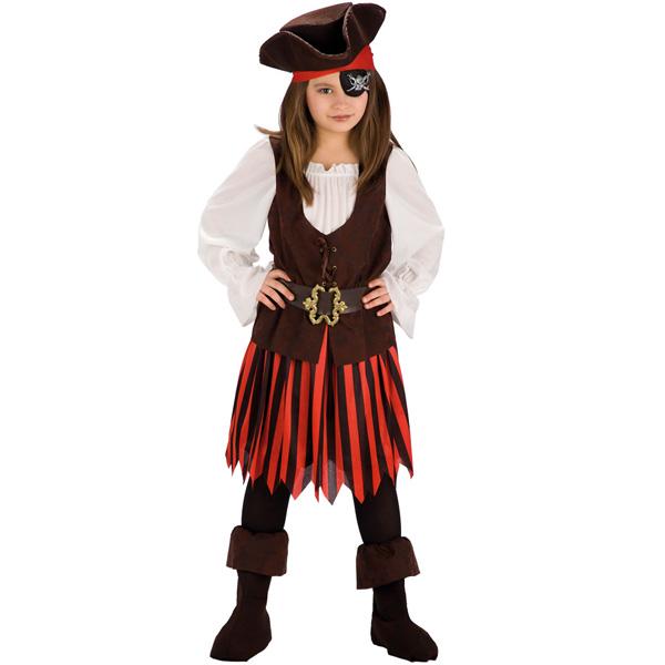 Piratflicka Barn Maskeraddräkt (Small)