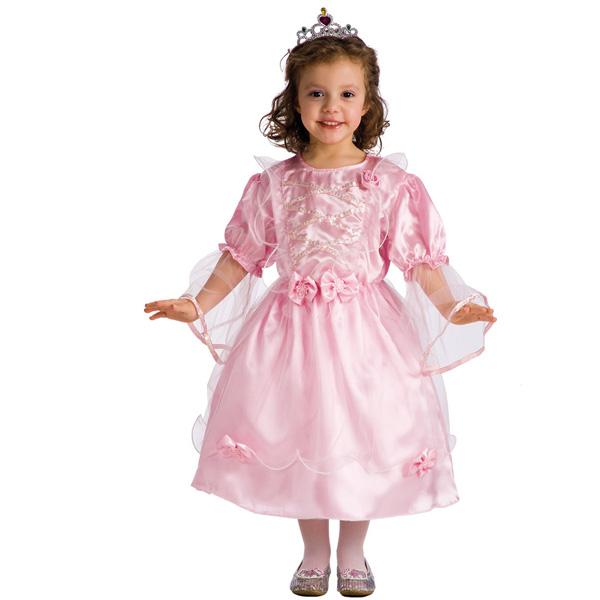 Rosa Prinsessklänning Barn Maskeraddräkt (Small)