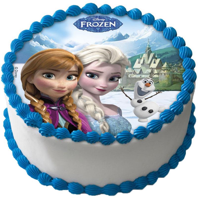 Frost Tårtbild Elsa och Anna B
