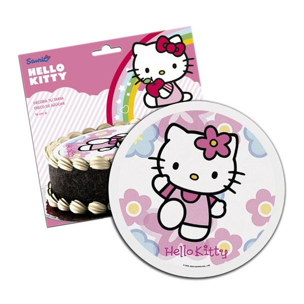 Hello Kitty Tårtbild Sockerpasta