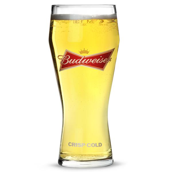 Ölglas Budweiser