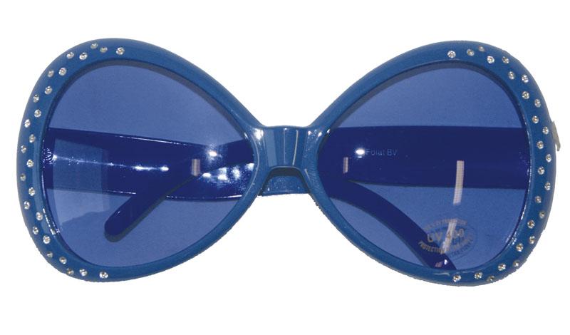 Glasögon Mörkblå med Bling