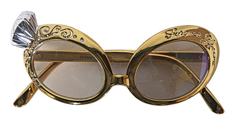 Guld Glasögon med Diamant Sten Deluxe