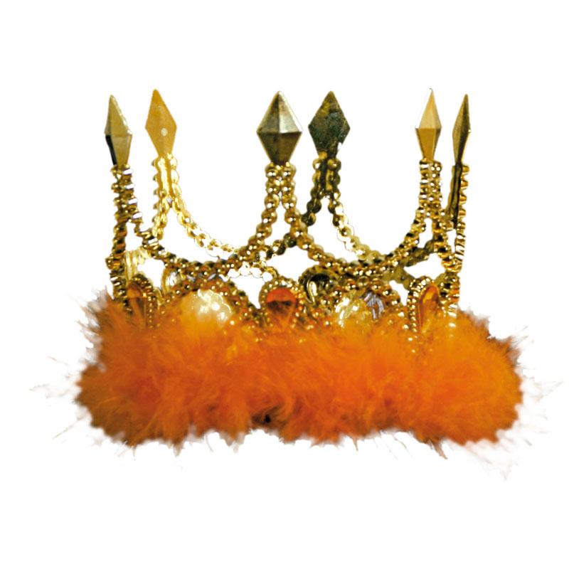 Prinsesskrona med Orange Fluff