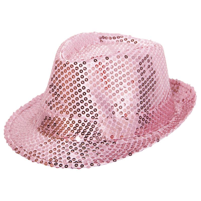 Trilby Hatt Rosapaljetter