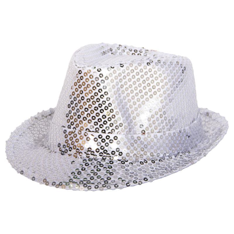Trilby Hatt Silverpaljetter