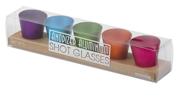 Aluminium Shotglas 5-Pack