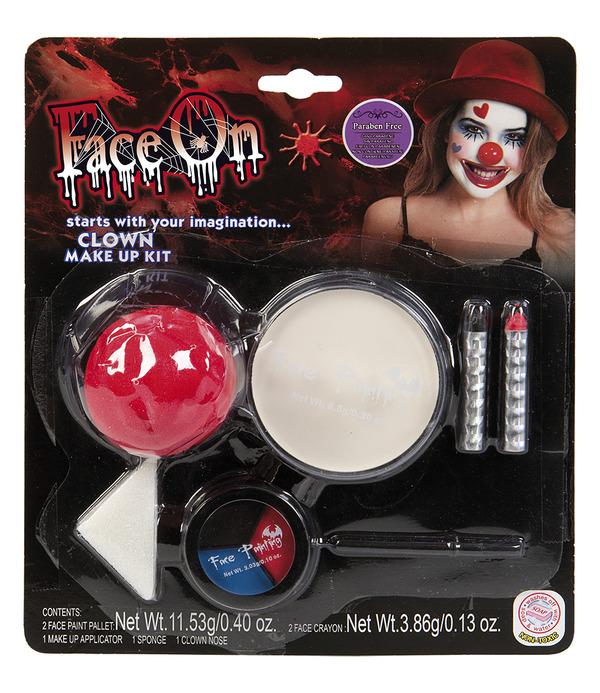 Face-On Clown Makeup