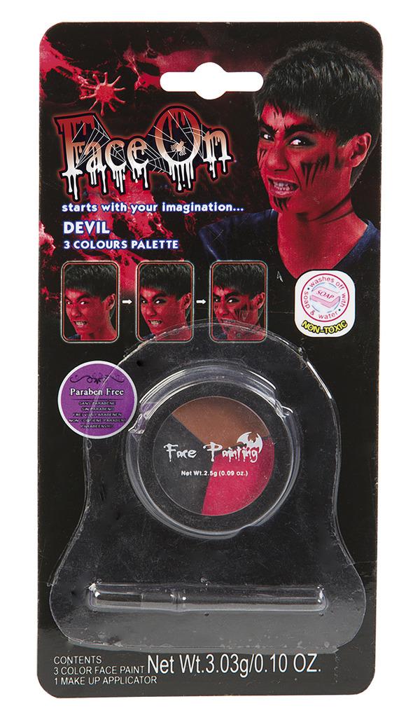 Face-On Djävul Makeup