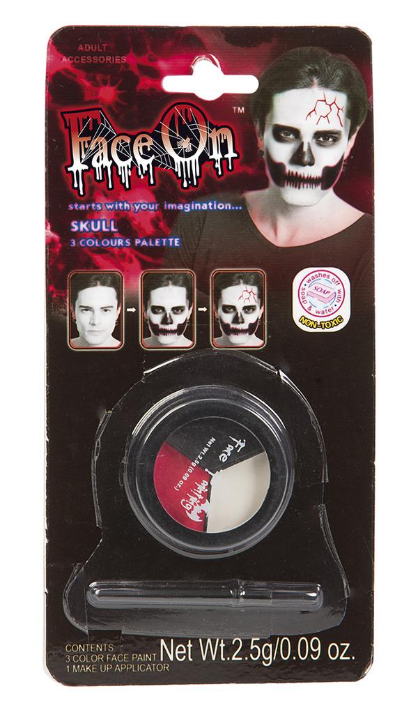 Face-On Dödskalle Makeup